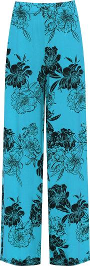 Floral Print Wide Leg Palazzo Trousers