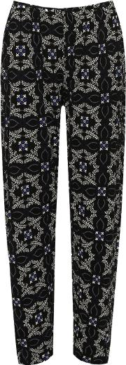 Hannah Floral Paisley Stretch Full Length Trousers