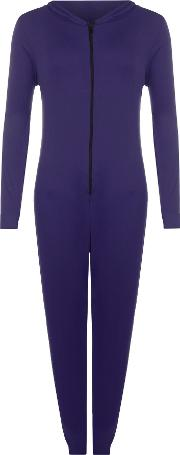 Hooded Zip Up Onesie,