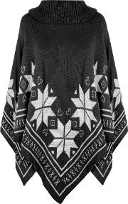 Knitted Aztec Cape,