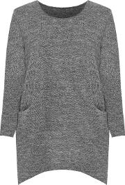 Knitted Baggy Long Sleeve Pocket Top