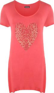 Leopard Heart Hanky Top