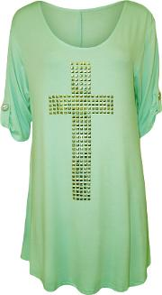 Lexi Cross Stud Short Sleeve Top