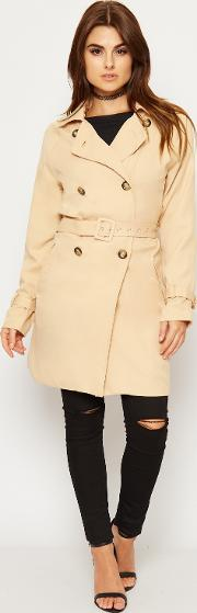 Lorette Double Breasted Trench Raincoat