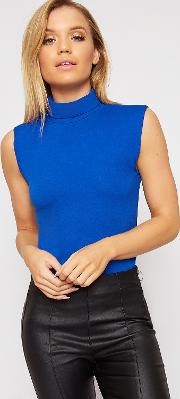 Lydia Basic Polo Sleeveless Vest Top