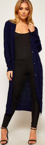 Mercy Cable Knit Longline Cardigan