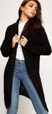 Mylee Cable Knitted Long Waterfall Cardigan