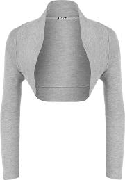 Plain Long Sleeve Shrug