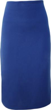 Stretch Knee Length Skirt