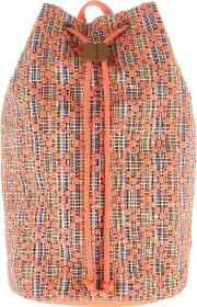 Arabella Jacquard Duffle Backpack