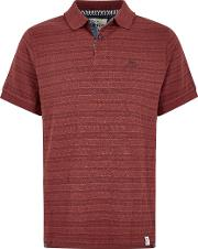 Baskin Jacquard Striped Polo Shirt