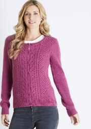 Brielle Plain Cable Knit Cardigan