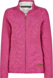 Eartha Full Zip Seira Soft Knit Jacket Dark Raspberry Size 12