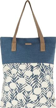 Elena Printed Cotton Shopper Bag