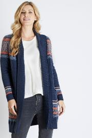 Emery Fair Isle Longer Length Cardigan