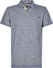 Gibson Slub Stripe Polo Shirt