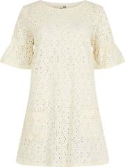 Kenza Embroidered Jersey Tunic