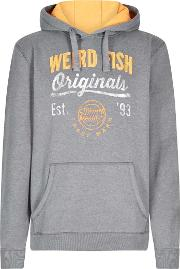 Leiter Applique And Graphic Print Hoodie