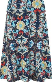 Malmo Printed Jersey Skirt Scandi Blue