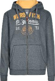 Moloney Applique And Graphic Print Zip Through Hoodie
