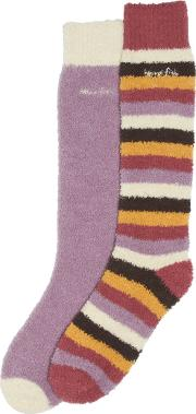 Park Fluffy Socks Pack Of 2 Pairs Heather