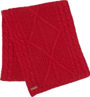 Sandy Cable Knit Scarf Rouge Size One