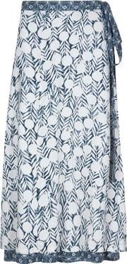 Shana Reversible Printed Midi Wrap Skirt