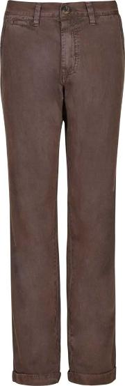 Zennor Heavy Washed Cotton Chino Trouser Major Brown